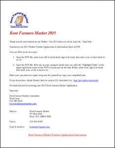 Kent Farmers Market Vendor Application